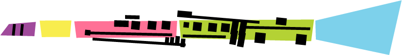 Simplified, cartoonized, colourful, clarinet